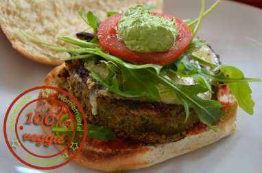 Hamburger végétarien avec steak de lentilles