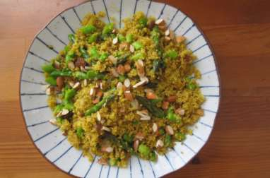 Salade de quinoa, tartinade de haricots blancs