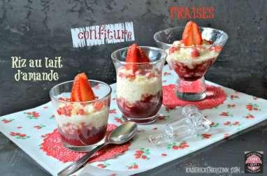 Riz au lait d'amande aux fraises sans lactose