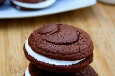 Whoopie pie chocolat et guimauve