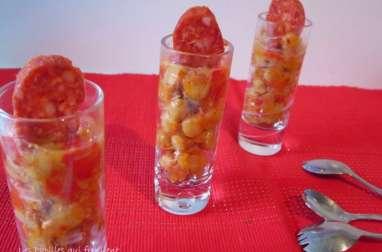 Salade de pois chiche au chorizo