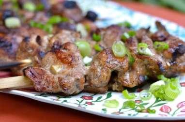 Brochettes de filet de porc au cinq-épices chinois