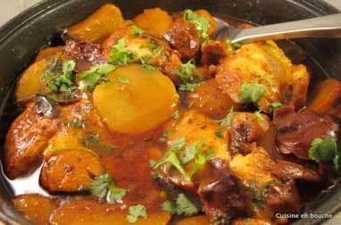 Filets de poisson en sauce et pommes de terre