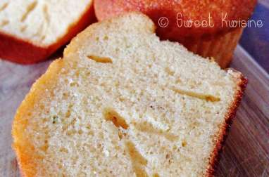 Les muffins au lait concentré sucré et au citron vert