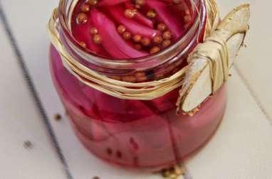 Oignons rouges en pickles
