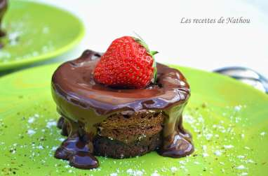Soufflés au chocolat noir et fève Tonka