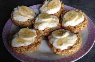 Gâteaux aux flocons d'avoine, miel et banane