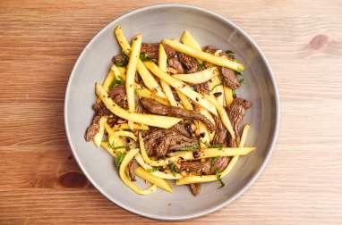 Salade de bœuf sauté à la mangue