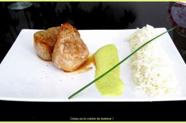 Filet mignon sauce curry