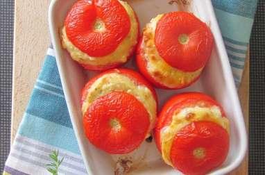 Tomates farcies de sainte-maure au parfum de sarriette