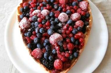 Tarte aux fruits rouges (mûres, myrtilles, framboise, fraises, groseilles)