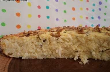 Gâteau de chou-fleur au fromage blanc et noix