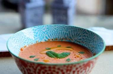 Gaspacho de tomates et courgettes
