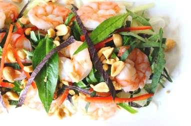 Salade de papaye verte aux crevettes