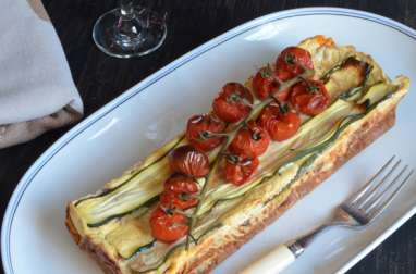 Terrine courgettes tomates cerise fromage frais