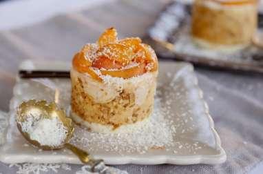 Charlottines à l'abricot et noix de coco