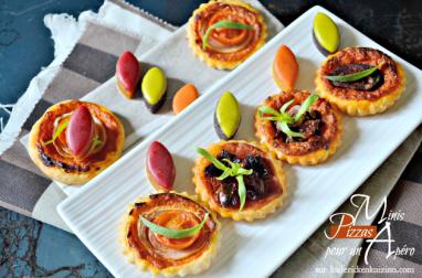 Minis tartelettes ou minis pizzas au pesto de poivrons