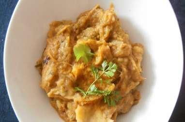 Purée de pommes de terre et courgettes poêlées au curry