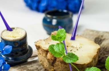 Céleri rave en croûte de sel, beurre floral aux épices