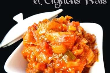 Curry de Tomates et Oignons nouveaux