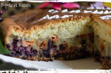Gâteau du goûter aux baies de sureau, baies de Goji et noix