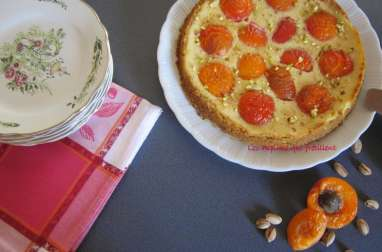 Tarte comme une cheesecake aux abricots