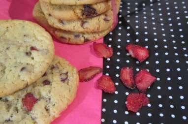 Cookies fraises séchées et pépites de chocolat