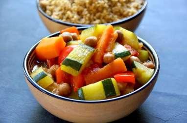 Couscous de légumes et semoule au son d'avoine