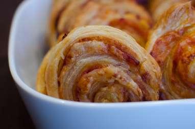 Spirales au salami et à l'emmental