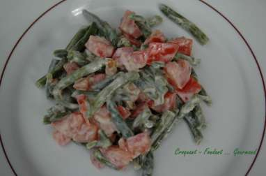 Salade haricots verts noix