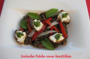 Salade tiède aux lentilles