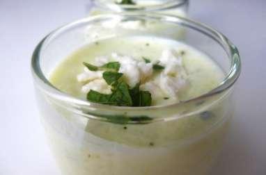 Verrine concombre-feta-menthe