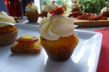 Minis cupcakes au chorizo, oignons caramélisés et parmesan