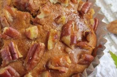 Muffins pomme, sirop d'érable et noix de pécan
