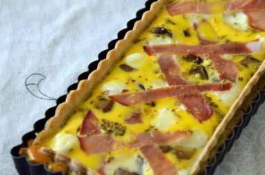 Quiche Cèpes, Chèvre et Bacon