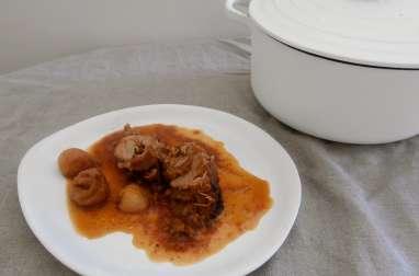 Filet mignon de porc aux figues et abricots secs