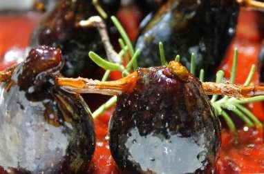 Brochettes de figues caramélisées
