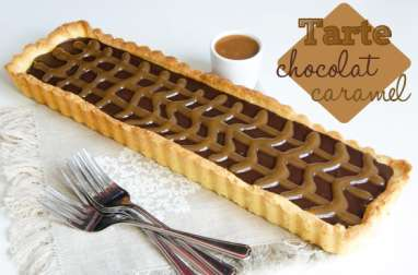 Tarte chocolat caramel au beurre salé