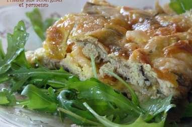 Frittata aux aubergines et parmesan