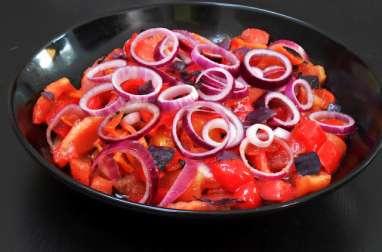 Salade de poivrons rouges grillés