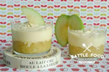 Verrines pommes et camembert de Normandie