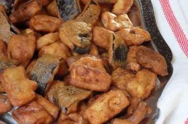 Beignets d'aubergine épicés à l'indienne