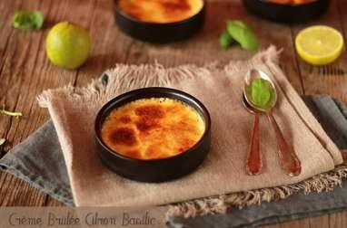Crème Brûlée Citron Vert et Basilic