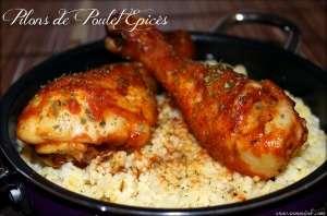 Pilons de poulet épicés