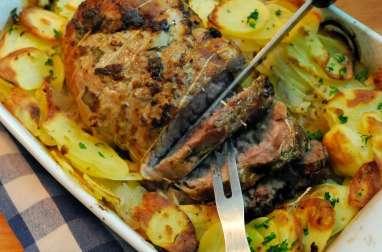 Rôti de porc façon boulangère