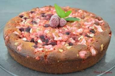 Gâteau lyonnais framboises et pralines roses