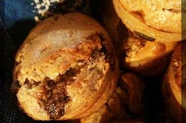 Muffins noisettes, Nutella et chocolat