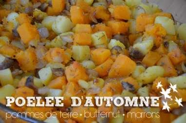 Poêlée de butternut, marrons et pommes de terre