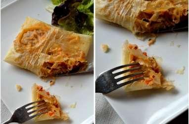 Croustillant tomate-mozzarella