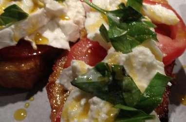 Tartine tomate-mozza